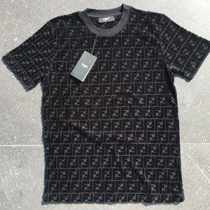 Fendi Casual T-shirt Men's Short Sleeve Cotton